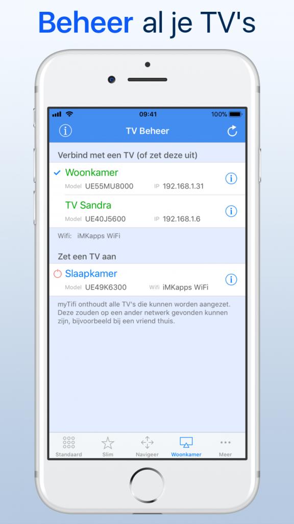 Beheer al je Samsung TV's in myTifi afstandsbediening